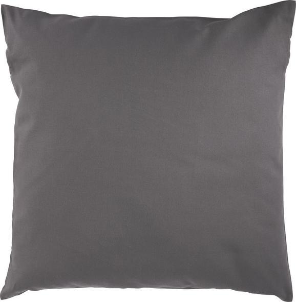 Zierkissen Zippmex in Anthrazit, 50x50cm - Anthrazit, Textil (50/50cm) - Based