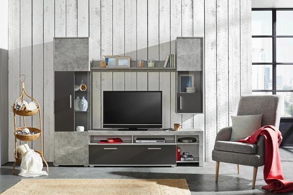 Dnevni Regal Orvieto New -based- - aluminij/siva, Moderno, umetna masa/steklo (223/196/36-40cm) - Based