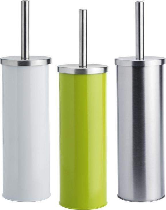 WC-Bürstengarnitur Beate - Edelstahlfarben/Silberfarben, KONVENTIONELL, Kunststoff/Metall (9,5/26,7cm) - Mömax modern living
