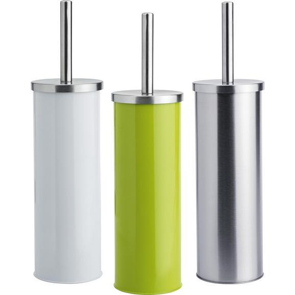 WC-Bürstengarnitur Beate in verschiedenen Farben - Edelstahlfarben/Silberfarben, KONVENTIONELL, Kunststoff/Metall (9,5/26,7cm) - Mömax modern living