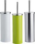 Wc-garnitura S Ščetko Beate - bela/zelena, Konvencionalno, kovina/umetna masa (9,5/26,7cm) - Mömax modern living