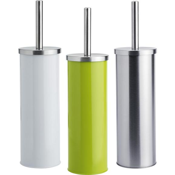 Wc-garnitura S Ščetko Beate - zelena/bela, Konvencionalno, kovina/umetna masa (9,5/26,7cm) - Mömax modern living