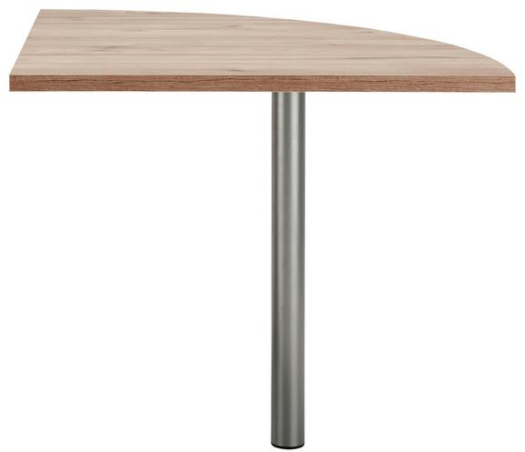 Kotna Povezovalna Plošča Ducato - hrast, Moderno, kovina/umetna masa (80/73/80cm) - Premium Living