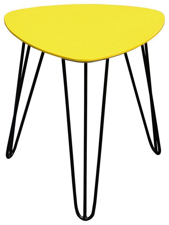 Mizica Tropf - rumena/črna, Moderno, kovina/leseni material (40/42/40cm)