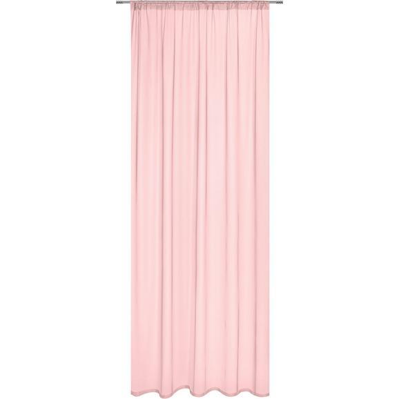 Končana Zavesa Thea - roza, Romantika, tekstil (145cm) - Mömax modern living