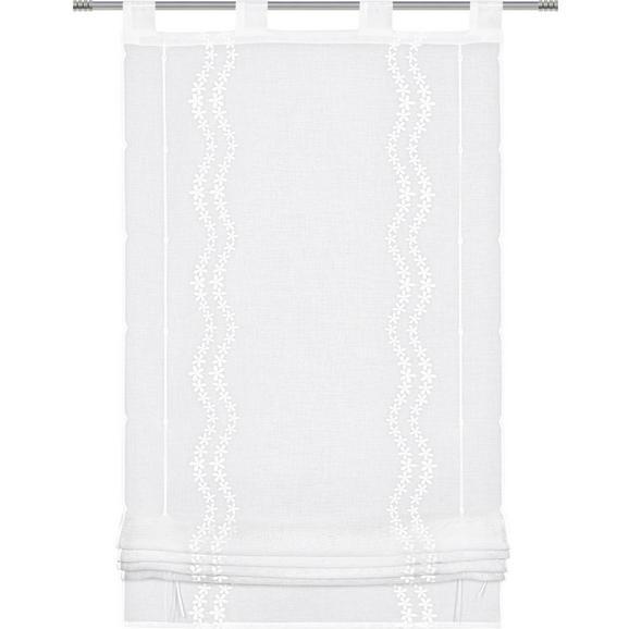 Bändchenrollo Liselotte, ca. 60x140cm - Weiß, ROMANTIK / LANDHAUS, Textil (60/140cm) - Zandiara