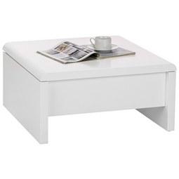 Couchtisch in Weiß - Weiß, MODERN, Holzwerkstoff/Metall (70/35-60/70cm) - Modern Living