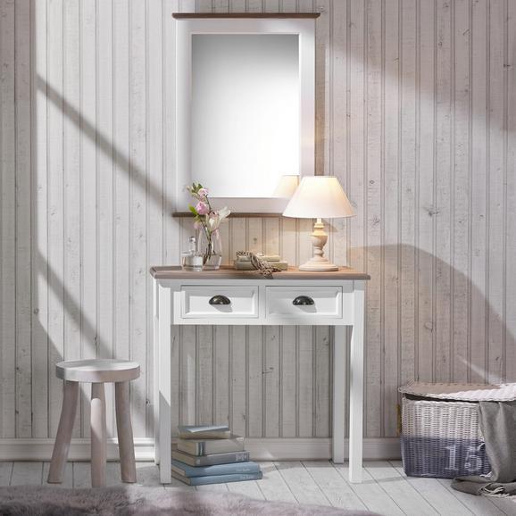 Konsole Cookie ca.80x40cm - Weiß/Kieferfarben, Holz/Metall (80/78/40cm) - Premium Living