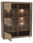 Vitrin Tiziano - Bézs/Tölgyfa, modern, Faalapú anyag/Műanyag (133,7/155,4/43,5cm)