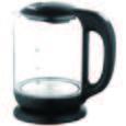 Wasserkocher Carolin Schwarz - Schwarz, Glas/Kunststoff (21,5/24/15,5cm)