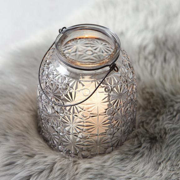 Windlicht Finja Ø/h ca. 14,3/16 cm - Dunkelgrau, MODERN, Glas (14,3/16cm) - Mömax modern living