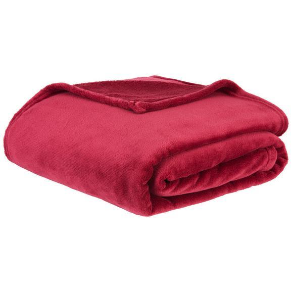 Pătură Pufoasă Kuschelix - bordo, textil (140/200cm)
