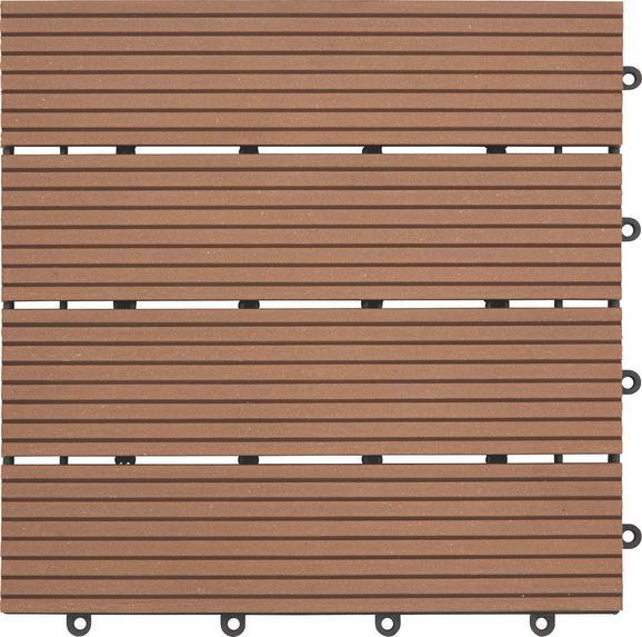 Terrassenfliese Willi in Braun ca. 30x2,2x30cm - Braun, Kunststoff (30/2,2/30cm) - Mömax modern living