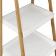 Regal in Weiß 'Mirella' - Buchefarben/Weiß, MODERN, Holz (44/110/37cm) - Bessagi Home