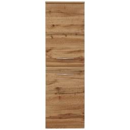 Midischrank Eichefarben - Chromfarben/Eichefarben, MODERN, Holzwerkstoff/Metall (40cm)