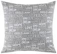 Okrasna Blazina Friends - siva, Trendi, tekstil (45/45cm) - Mömax modern living