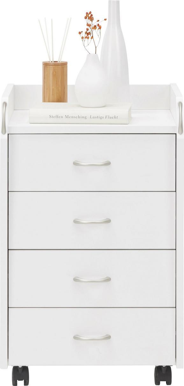 Predalnik Na Kolescih Pronti - bela/srebrna, umetna masa/leseni material (40/65/36cm) - Mömax modern living