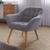 Sessel Monique - Hellgrau, MODERN, Holz/Textil (83/76/74,5cm) - Modern Living