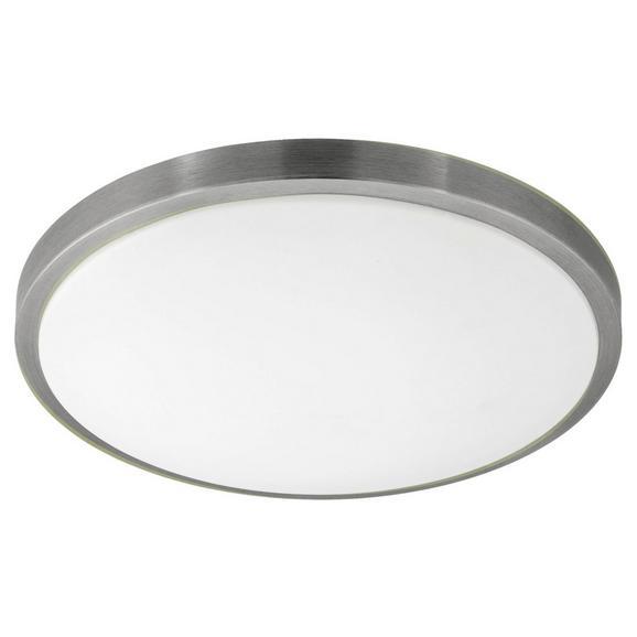 Deckenleuchte Competa 1 mit LED - Weiß/Nickelfarben, MODERN, Kunststoff/Metall (43/5,5cm)