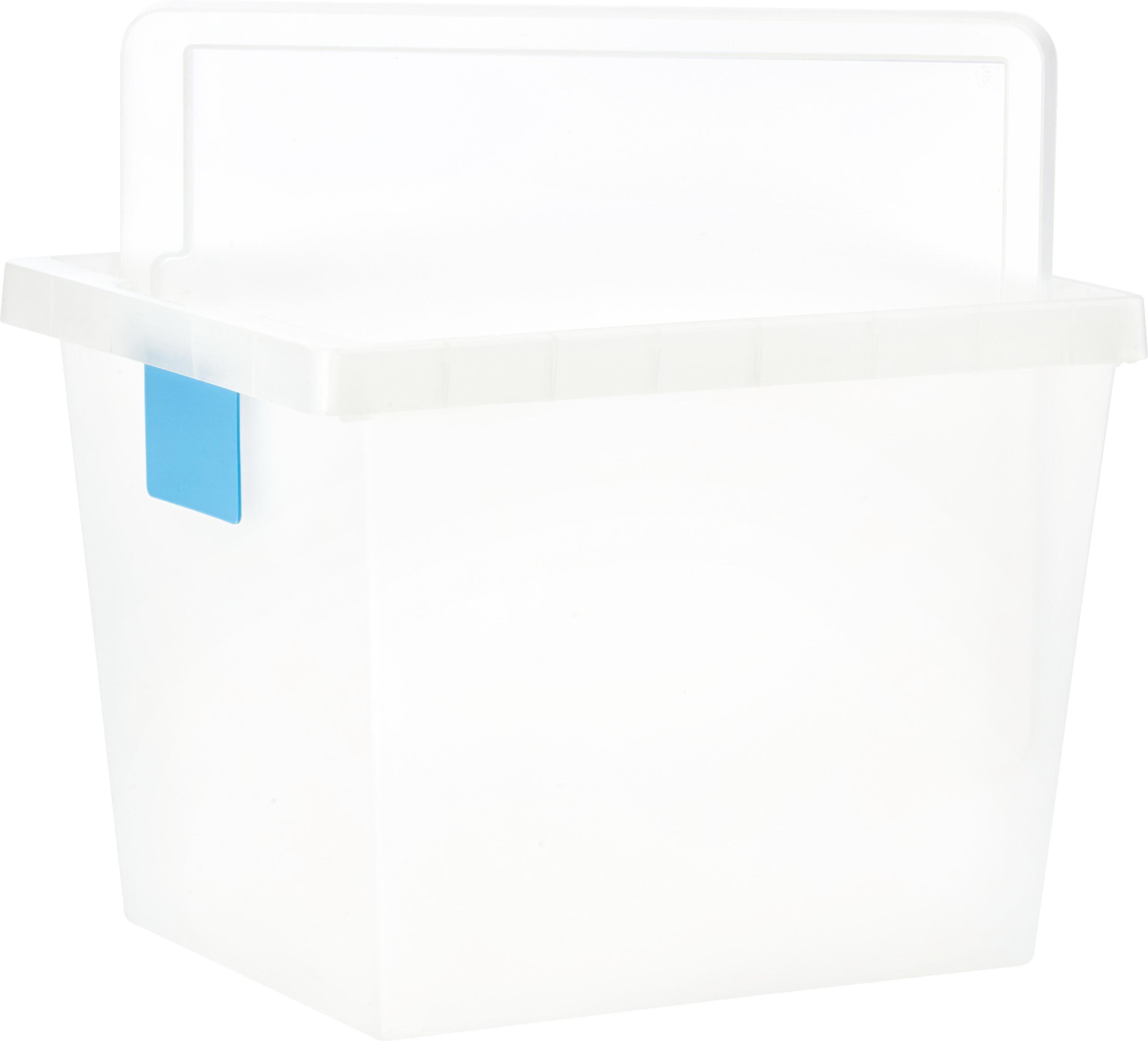 Doboz Tetővel Írható Kártyával - áttetsző, konvencionális, műanyag (41/33/30cm) - MÖMAX modern living