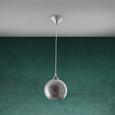 Pendelleuchte Emelle - Silberfarben, MODERN, Glas/Kunststoff (20cm) - Modern Living