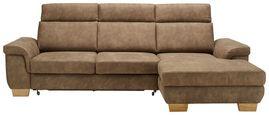 Sedežna Garnitura Flaming - naravna/rjava, Konvencionalno, tekstil/les (274/160cm) - Zandiara