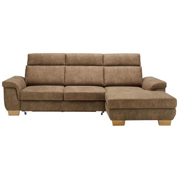 Sjedeća Garnitura Flaming - prirodne boje/smeđa, Konventionell, tekstil/drvo (274/160cm) - Zandiara