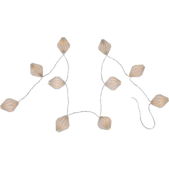 Lichterkette Venuto, max. 0,03 Watt - Papier/Kunststoff (165cm)