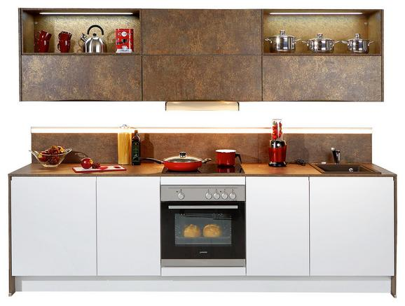Kuhinjski Blok Ibarra - bron/bela, Moderno, leseni material (273,2cm) - VERTICO