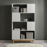 Regal Basic - Weiß/Kieferfarben, MODERN, Holz (110/185/38cm) - Modern Living