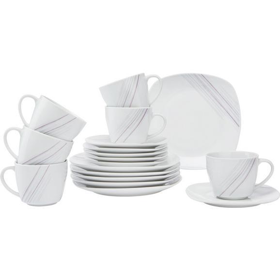 Kaffeeservice Avenne aus Keramik, 18-teilig - Weiß, MODERN, Keramik (35,2/30,5/9,3cm) - Mömax modern living