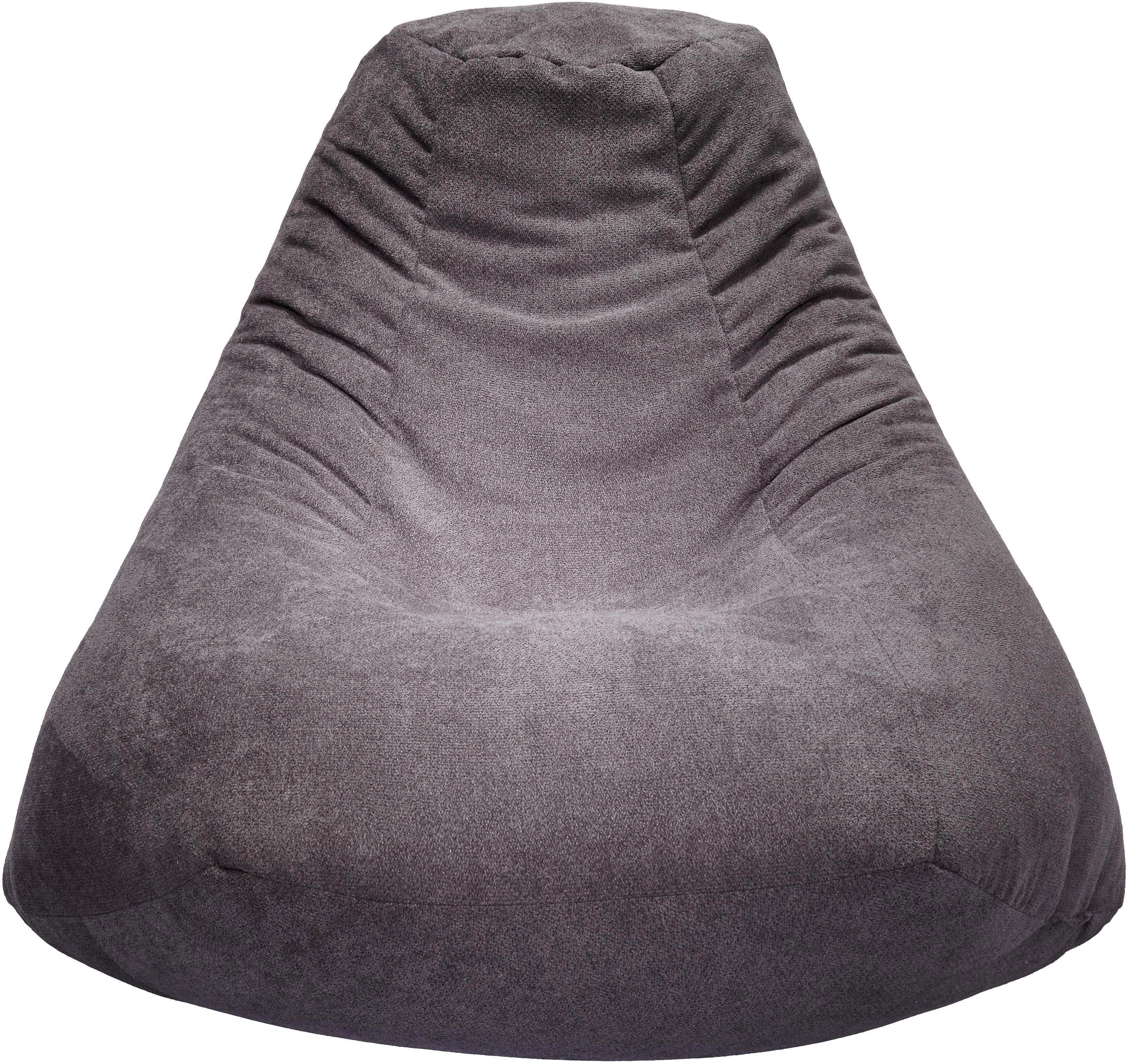Sitzsack in Grau - Grau, MODERN, Textil (85/90/85cm) - MODERN LIVING