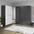 Tür in Alufarben inkl. Spiegel - Alufarben, MODERN, Glas/Holzwerkstoff (45,4/202,6/1,8cm) - Based