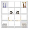 Mobilier Despărțitor Berni - alb/culoare aluminiu, Modern, plastic/compozit lemnos (158/158/34cm)