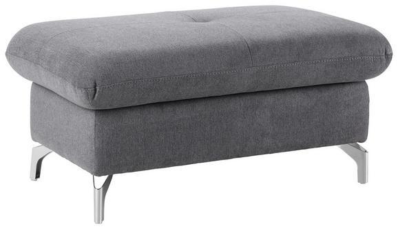 Hocker Grau - Schwarz/Grau, MODERN, Textil/Metall (100/47/60cm) - Premium Living