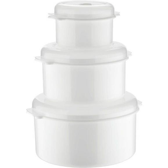 Mikrózható Doboz Szett Műanyag - Fehér, konvencionális, Műanyag (0.5+1.65+2l)