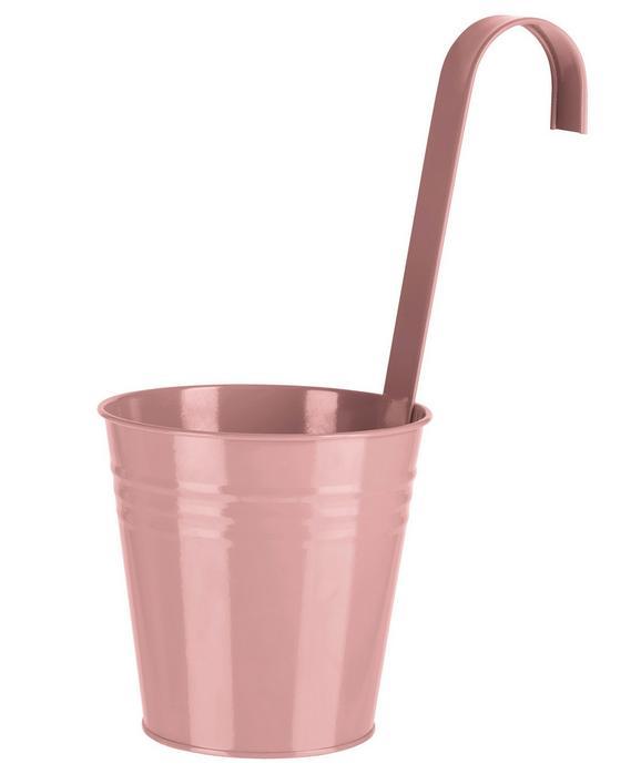 Blumentopf Chloe in verschiedenen Farben - Pink/Hellrosa, KONVENTIONELL, Metall (13/28/13cm)