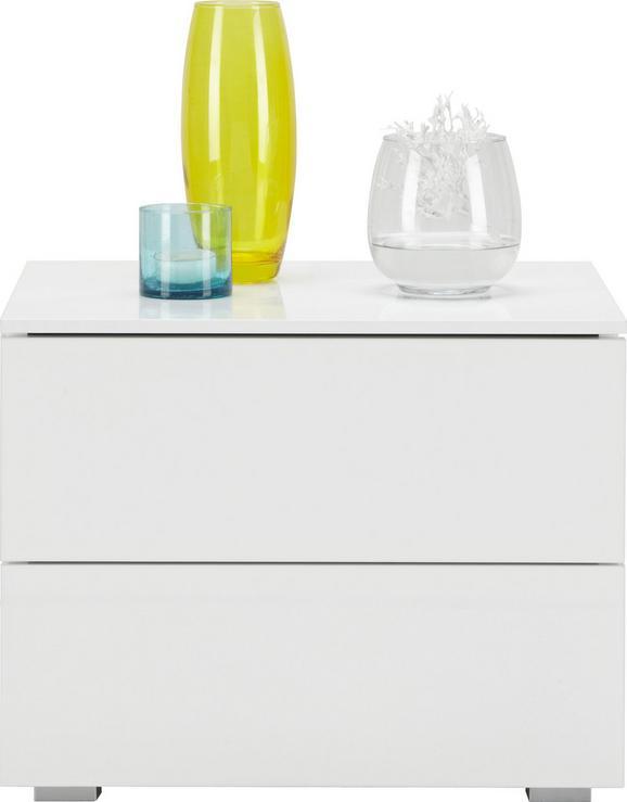 Nachtkästchen in Weiß - Weiß, MODERN, Holzwerkstoff (55/44/44cm) - CARRYHOME
