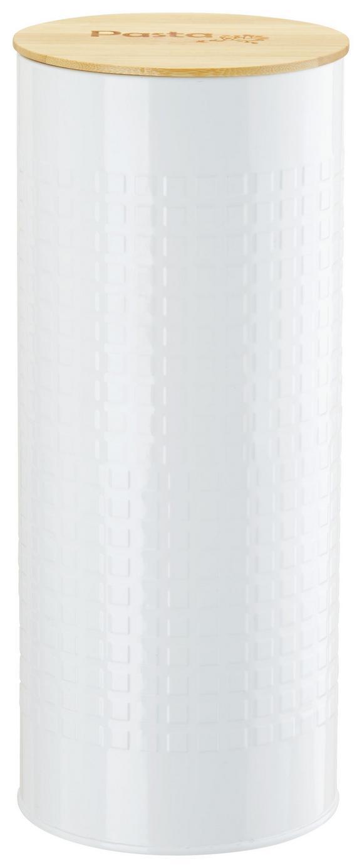 Vorratsdose Stella Weiß - Naturfarben/Weiß, ROMANTIK / LANDHAUS, Holz/Metall (11/27cm) - Zandiara