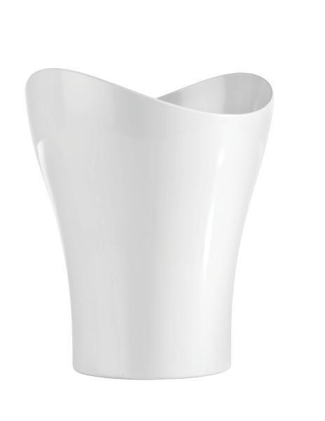Kosmetikeimer Bella Weiß - Weiß, KONVENTIONELL, Kunststoff (23,47/27,86cm) - Mömax modern living