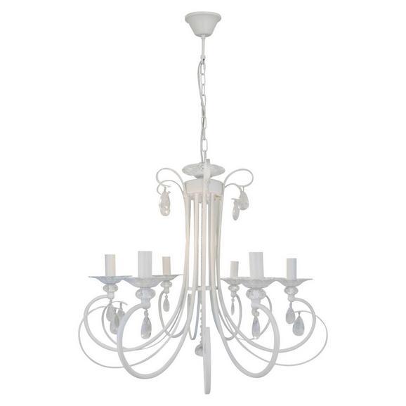 Viseča Svetilka Jari - bela, Romantika, kovina (58/100cm) - Premium Living