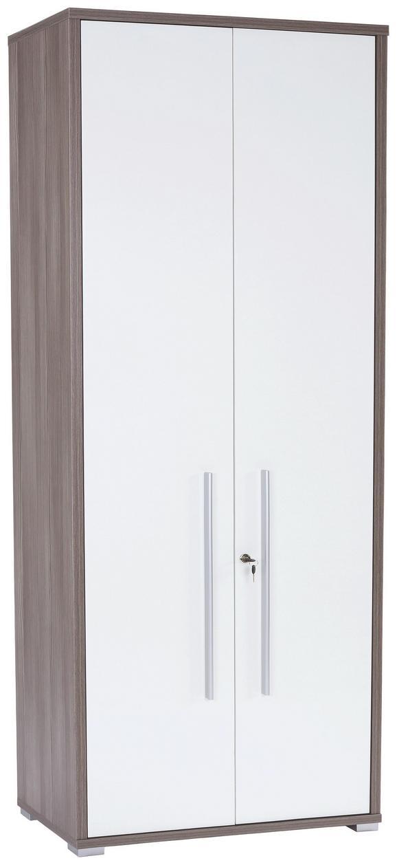 Aktaszekrény Profi - Sötétbarna, modern, Faalapú anyag (75/220/35cm) - Ombra