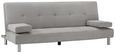 Sofa Esther mit Schlaffuntkion inkl. Kissen - Chromfarben/Grau, MODERN, Holz/Textil (200/82/89cm) - Mömax modern living