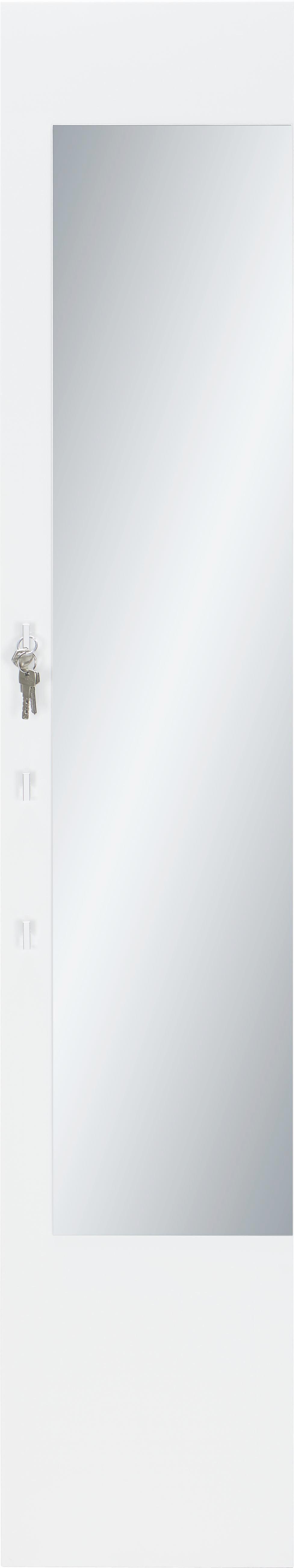 Garderobenpaneel in Weiß - Weiß, MODERN, Holzwerkstoff (35/190.4/32.4cm) - MÖMAX modern living