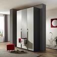 Kombischrank in Weiß mit Spiegel - KONVENTIONELL, Holzwerkstoff/Kunststoff (136/229/54cm) - Modern Living