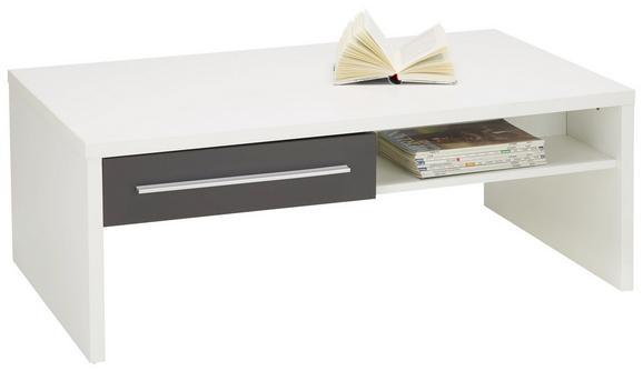 Couchtisch Weiß/Graphit Matt - Graphitfarben/Weiß, MODERN, Holzwerkstoff (110/40/65cm) - MODERN LIVING