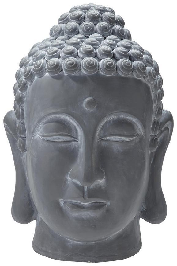 Buddhakopf Dawn Grau - Grau, LIFESTYLE, Kunststoff (50/62/45cm) - MÖMAX modern living