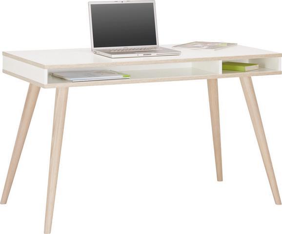 Schreibtisch in Weiß aus Holz - Eichefarben/Weiß, MODERN, Holz/Holzwerkstoff (120/75/60cm) - MODERN LIVING