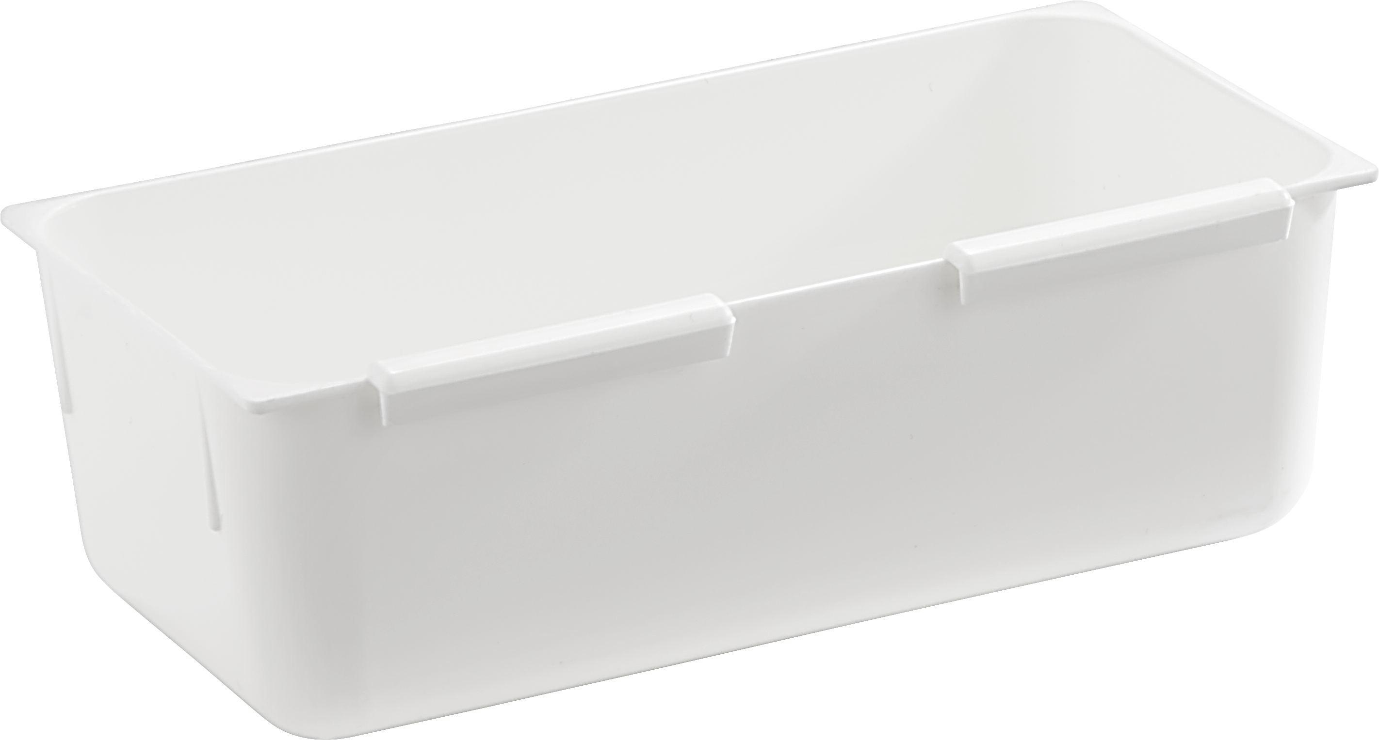 Schubladenbox Wanda in Weiß, ca. 7,5x15cm - Weiß, Kunststoff (7,5/15cm) - MÖMAX modern living