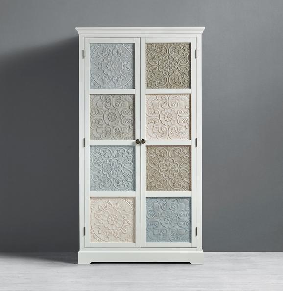 Kleiderschrank Avery - Beige/Weiß, MODERN, Holz/Metall (100/182/50cm) - MODERN LIVING